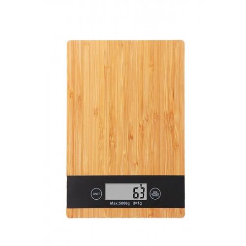 Bambu 1 Gr-5 Kg A Kalite Lüks Dijital Ekranlı Ahşap Hassas Elektronik Mutfak Terazisi